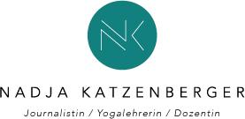 Nadja Katzenberger Journalistin Yogalehrerin Dozentin Initialen grün weiß