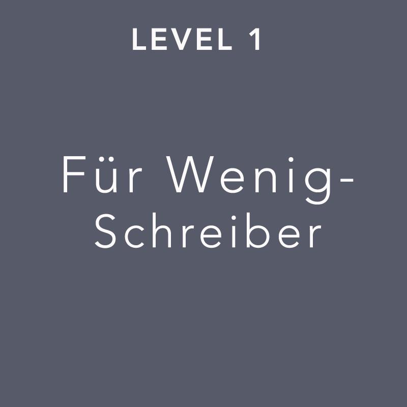 Kachel Level 1 für Wenigschreiber